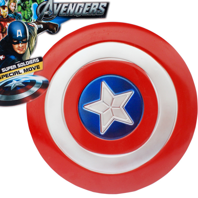 32CM The Second Edition Avengers Alliance J G Chen The Avengers Captain America 2 Shield Cosplay Property Toy Metallic Shield