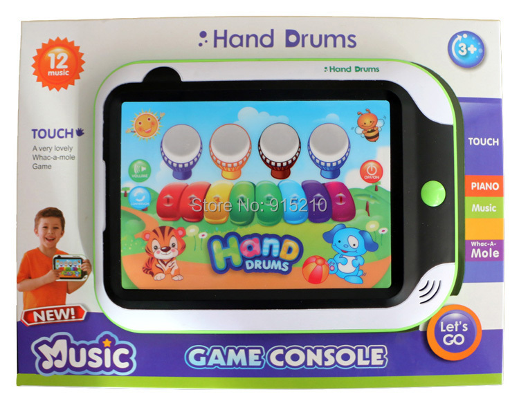 Kids Musical Toy Animal Style Play Drum & Piano Pad Educational & Music Learning Machine Tablet Computer Baby Toys With Light(China (Mainland))