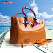 luxury handbags women bags high quality Jelly bags PVC waterproof beach tote Casual bag(China (Mainland))