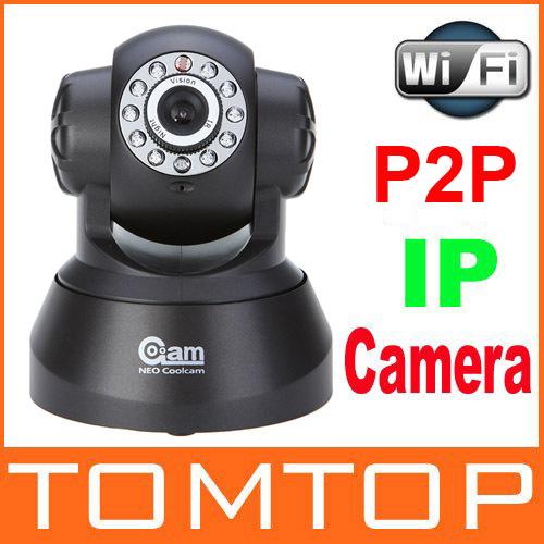 WIFI IP Camera IR Nightvision Wireless Encryption LED P2P 2-Way Audio Network cameras