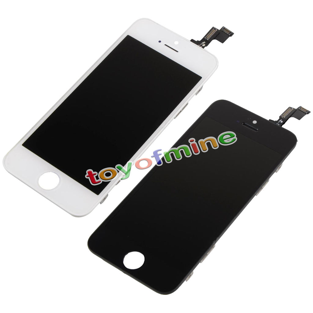High Quality Guarantee White&Black Replacement LCD Display Digitizer Assembly With Touch Screen for iPhone 5S Free Shipping(China (Mainland))