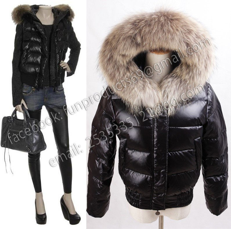 free shipping brand new quilted gilet with racoon fur. Black Bedroom Furniture Sets. Home Design Ideas