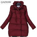 New Brand Fashion Cocoon Type Down Jacket Women 2016 Winter Women Stand Collar Down Jacket Thick