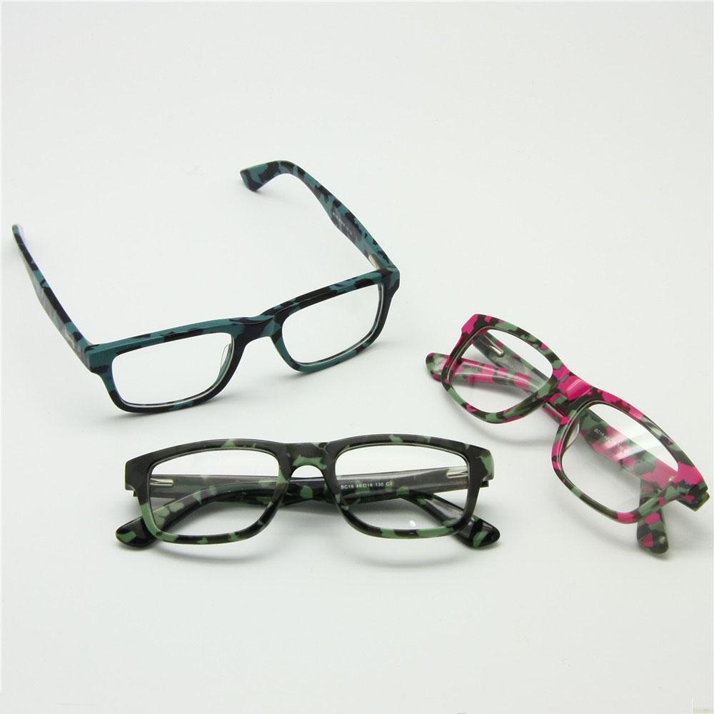 Size 46-18-130 Boys Girls Children Acetate Camouflage Optical Glasses Frame Light Spring Hinge Temple Adjustable Student Eyewear(China (Mainland))