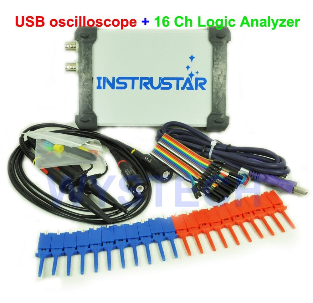 O052 ISDS205C Upgraded MDSO-LA PC USB Analog Virtual oscilloscope 16 Channel Logic Circuit Analyzer Bandwidth 20M FREE SHIPPING(China (Mainland))