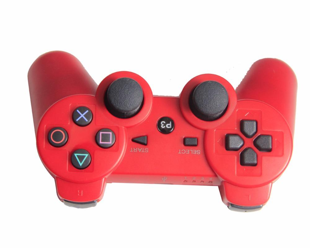 Gaming Accessories For PlayStation 3 Dualshock 3 Bluetooth Wireless joystick Controller for PS3- Red(China (Mainland))