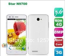 Free Shipping Star N9700 5 Inch MTK6582 Quad Core Android 4.2 IPS 960X540 1GB RAM 4GB ROM 8MP Dual Sim 3G GPS Cell Phone(China (Mainland))