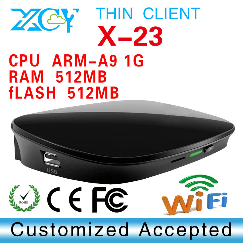 Cloud terminal Thin client Net computer Htpc Desktop pcXCY X-23 Embedded linux 2.6 OS Dual Core 1.0Ghz Processor support 1080p(China (Mainland))