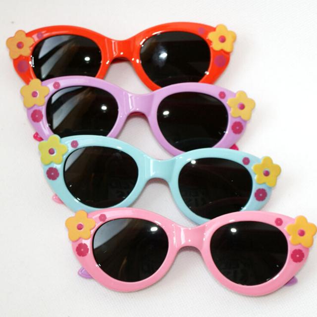 Cat eye солнцезащитные очки очки мальчики девочки солнцезащитные очки цветок поляризованные бренд солнцезащитных очков для детей подарки 5 colors lentes де золь
