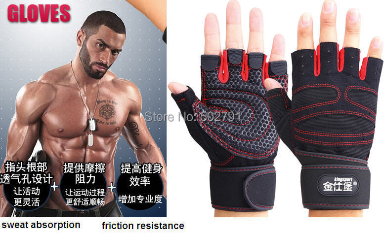 Sport Fitness Gloves Exercise Training Gym Multifunction Men&Women sweat absorption friction resistance size M,L,XL - shanghai sunglasses's store