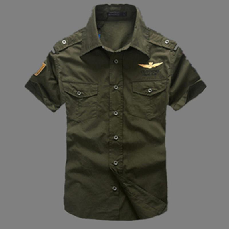 2015 NEW short sleeve shirts Fashion airforce uniform military short sleeve shirts men s dress shirt