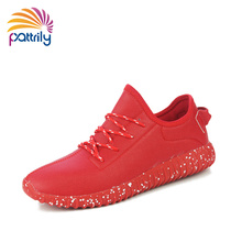 2016 Fashion Red Bottom Shoes For Men Casual Shoes Outdoor Kanye West Style Yeezy Bottom Wedges Platform Shoes Famous Footwear(China (Mainland))