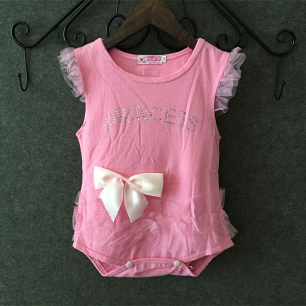 (LUCKY STORE)baby girl bodysuit next with bow-knot original(China (Mainland))