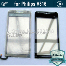 10pcs Original touch screen touch display panel digitizer replacement black for Philips V816