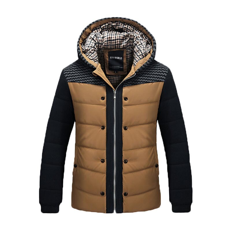 2014 Fashion Winter Jacket Men Thermal Cotton padded Overcoat Casual Men s Hooded Winter Coat Men