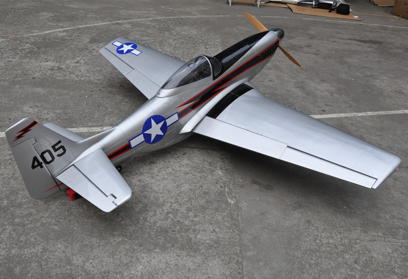 """US Stock Free Shipping 96"""" Mustang 100cc Scale RC Plane Gasoline ARF Airplane Model Wood Fix Wing Plane(China (Mainland))"""
