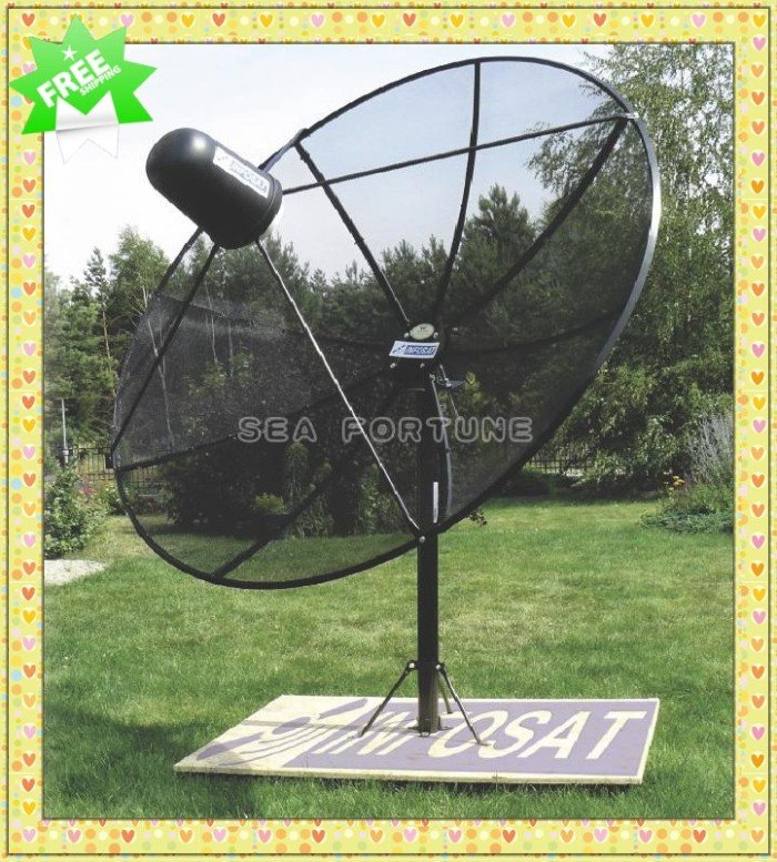 C Band 180cm 5.9ft Polar Mount Mesh Satellite Dish Prime focus dish antenna, Withstand Wind,aluminum alloy, Stainless(China (Mainland))