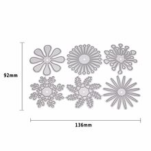 Die Cut Metal Steel 6 Types Flowers Set Frame Cutting Dies Stencil For DIY Scrapbooking Album Paper Card Photo Decorative Craft(China)