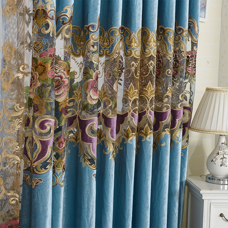 Italy Velvet Rope Embroidery Embroidery Curtain Water Soluble Hollow Product European High-grade Shading Vertical Blinds(China (Mainland))