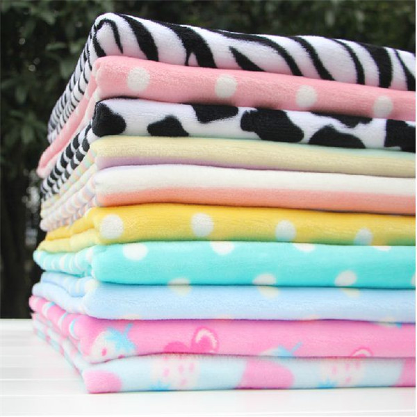 2015 NEW Colorful color fleece flannel fabric for sewing,warm cloth,sale by meter one piece 100*160CM(China (Mainland))