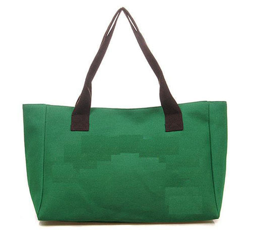 Hot Casual  Products Canvas Tote Handbags Women Green Shoulder Bag Embroidered(China (Mainland))