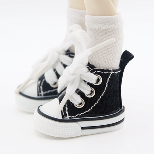 "Black Canvas Sneakers Flat Shoes For 1/6 11"" tall BJD Doll AOD AS YOSD DD G&D(China (Mainland))"