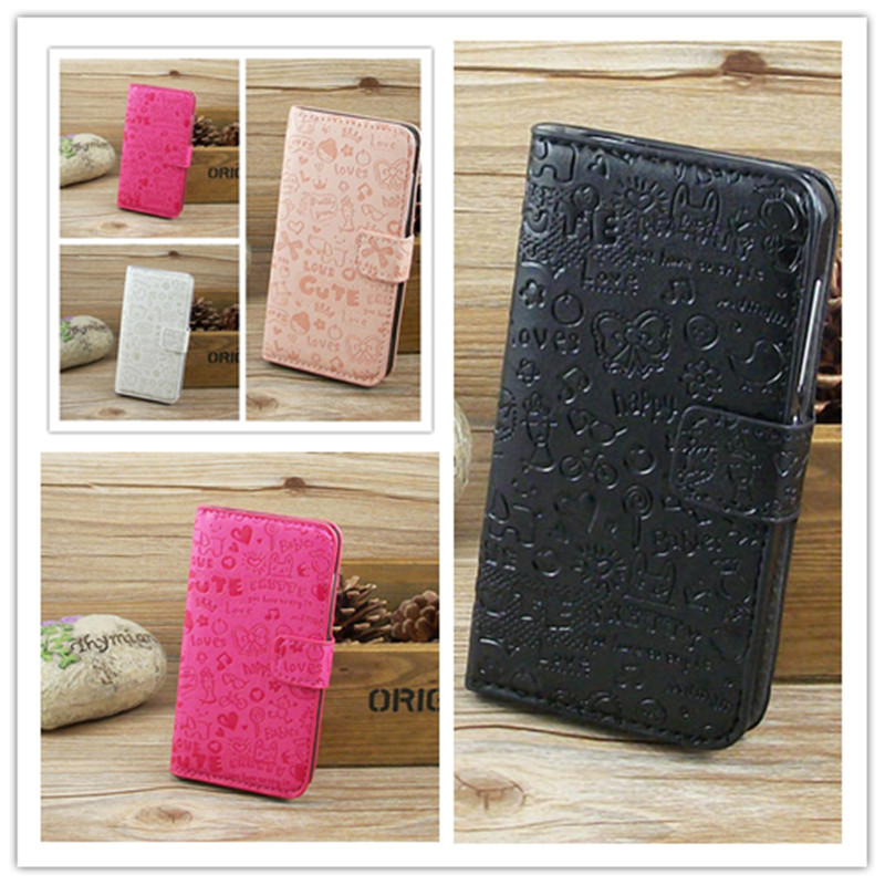 Magic Girl Leather Case with Holder Credit Card for Alcatel One Touch Pop C1 4015 4016 4015X/N/D/A 4016A/4016D free shipping()