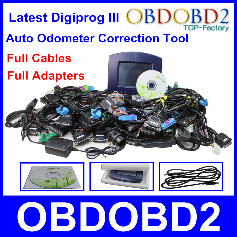 Factory Price Digiprog 3 Odometer Correction Tool Digiprog III Full Cables Adapters Digiprog3 Mileage Programmer High Quality(China (Mainland))