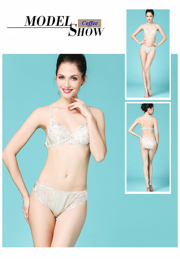 100% natural silk embroidery female underwear women set,pure silk quality lace bra&brief sets,100% silk lace sexy lingerie(China (Mainland))