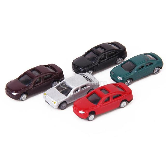 Free Shipping 50pcs Painted Model Cars Building Train Layout Scale N (1 to 150)