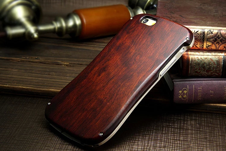Case iphone 6 4.7 inch Special wood material cell phone back cover Vintage & Durable Design Phone metal case