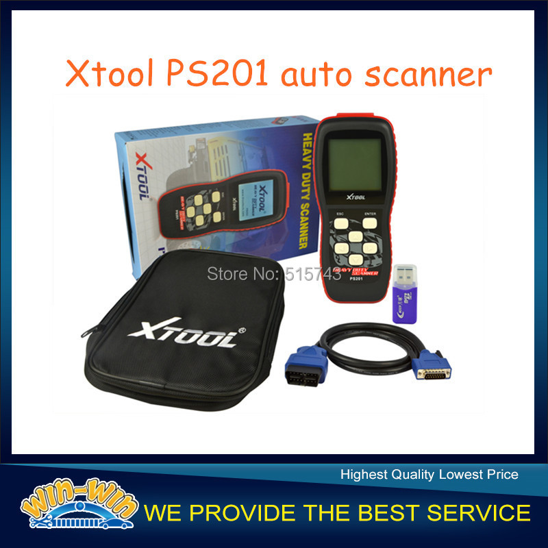 Free shipping!!! 100% Original Xt00l PS201 Heavy Duty Code Reader Diesel Test PS 201 OBDII Scanner(China (Mainland))