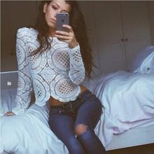 Blusas White Lace Women Blouse Shirt Sheer Crochet Shirt Summer Tops Sexy Women Blouses Plus Big Size Women Shirts Chemise Femme(China (Mainland))