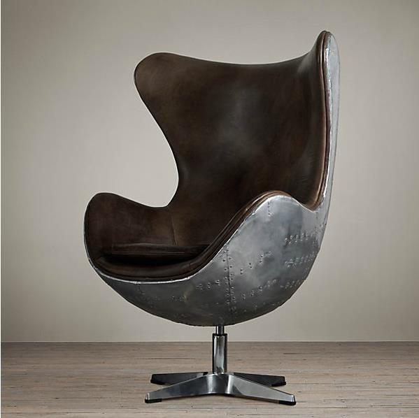 American Rustic Furniture Metal Retro Loft Mix And Match Italian Head Layer Cowhide Eggshell