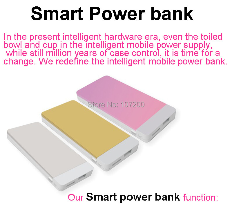 5000mAh smart power bank cell phones, iphone 6, charger original phone - Lino Electronics Mall store