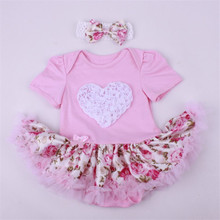 12 colors Newborn Baby girls clothes Infant Clothing Jumpsuit Halloween Romper Dress Cotton Solid Girls dress+Headband 2pcs/sets