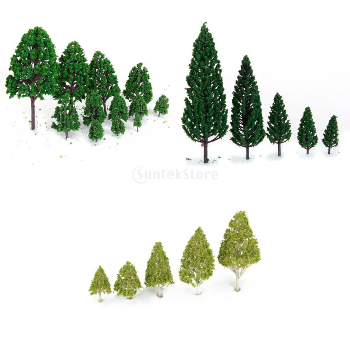 New 2015 27 Mixed Model Trees Train Railways Architecture War Game Scenery Layout 3-16 cm Free Shipping(China (Mainland))