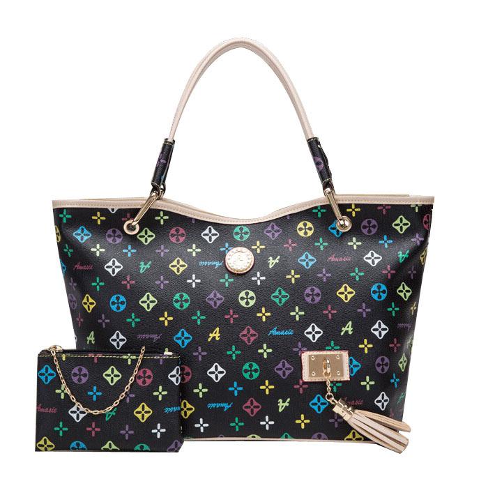2014 Fashion Large Bags Handbags Women Famous Brands Desigual Bag Women Handbag High Quality Print Tassel Tote Shopping Bag(China (Mainland))