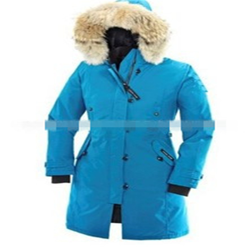 Women Long Brand Downs Jacket 2015 Winter Canada Style Thick Warm Fur Collar Hooded Zippers XS~XXL Outdoor Downs Coat LJ3012(China (Mainland))