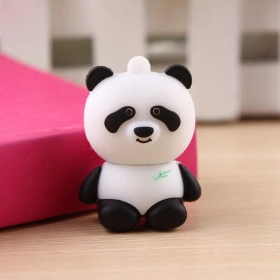 Free Shipping Panda USB Flash Drives (White) 100% Full Capacity 4GB 8GB 16GB 32GB cute animal Two style wholesale price HOT(China (Mainland))