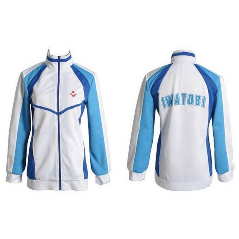 Free! Iwatobi Coat Swim Club Haruka Nanase Cosplay Costume Jacket Unisex School Uniform Sportswear clothes for men and women(China (Mainland))