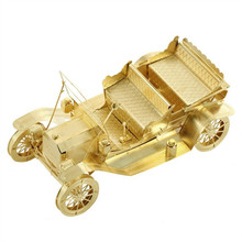 Buy 3D Metal Model Puzzles 1908 FORD MODEL T Golden Chinese Metal Earth Brass Creative Gifts for $6.66 in AliExpress store