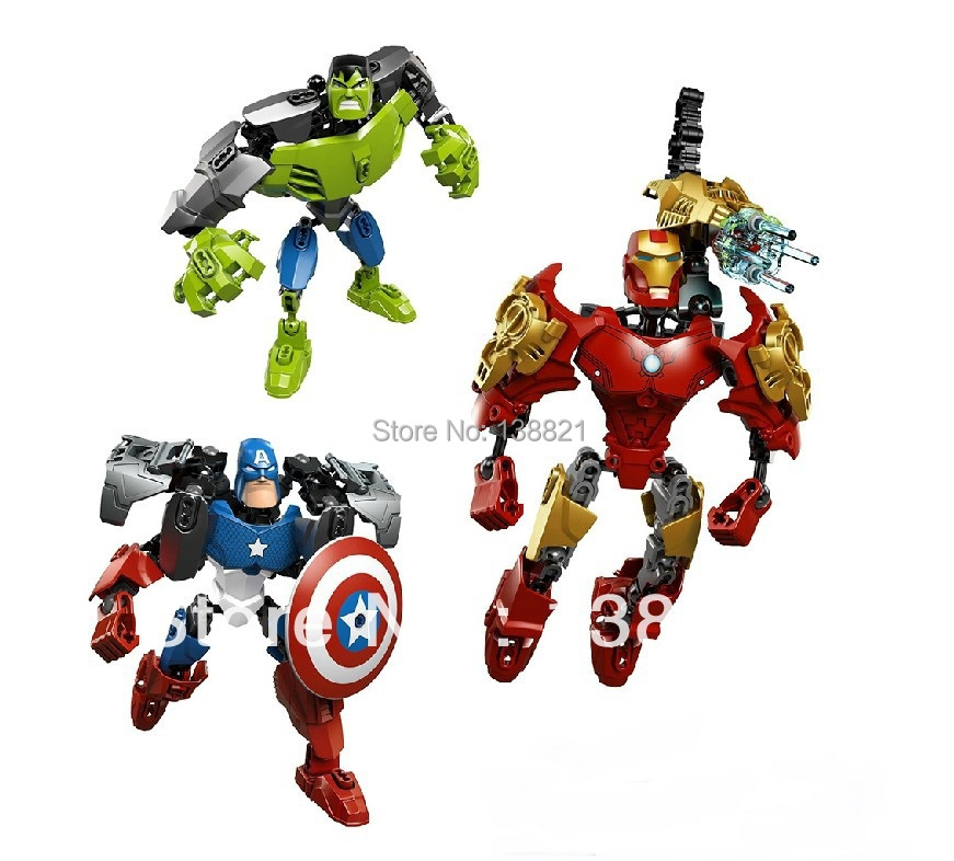 Educational Toys children blocks building Iron Man, Hulk, Captain America fight inserted toys Compatible Lego - zhichao shaw's store