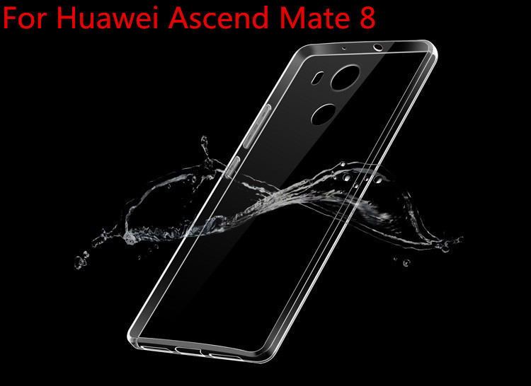 Phone Case For Huawei Ascend Mate 8 Ultra Thin Crystal Clear Soft TPU Cover Cases For Huawei Mate8 Cell Phone Back Cover Case(China (Mainland))