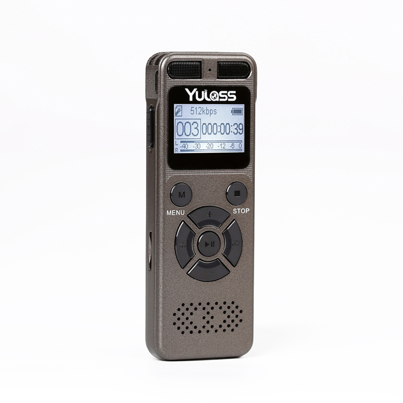Yulass 8GB Professional Audio Recorder Business Portable Digital Voice Recorder USB Support Multi-language,Tf Card to 64GB(China (Mainland))