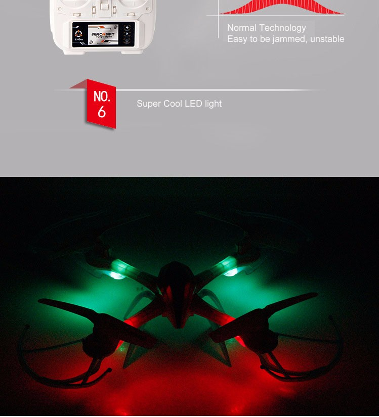 D4M6x 2015 New Arrival Small Tarantula X6 RC Helicopter with 0.3MP2.0MP Camera 2.4G 4CH Headless Hovering One Key Return Mini Drone