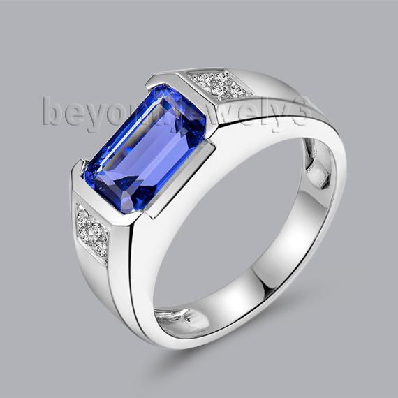 Popular Mens Emerald Cut Diamond Ring Buy Cheap Mens