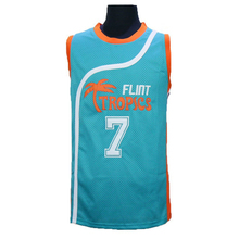 VTURE Mens Flint Tropics Movie #7 COFFEE Black Basketball jersey Stitched(China (Mainland))