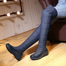 Buy 2016 High Winter Shoes Women Knee High Boots Waterproof Cotton-padded Female Snow Boots Flats Long Boots botas femininas for $37.50 in AliExpress store