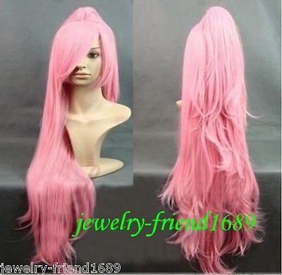Wholesale heat resistant LY free shipping New font b wig b font Cosplay long Pink font